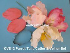 Parrot Tulip Cutter & Veiner Cake Decorating Sugar Flower Gum Paste Tools