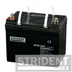 Pair of Strident 34ah 12v Batteries, for Shoprider Sovereign and Kymco Strider