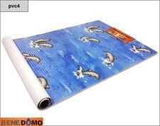 Bene Domo Non Slip Bath Shower Mat Pedestal Dolphin Blue PVC Memory Foam Pool an