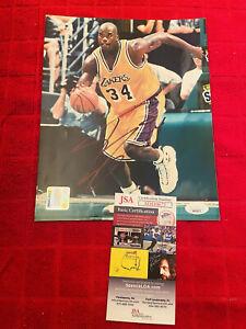 Los Angeles Lakers Shaquille O'neal Signed Nba 8x10 Photo Jsa Coa Shaq Hof Rare