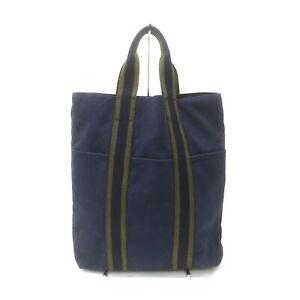 Hermes Tote Bag Fourre-Tout Navy Blue Canvas 1422485