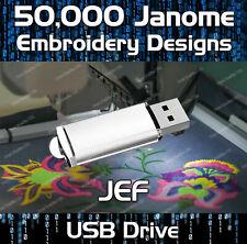 160,000 archivos de diseño de patrón de Bordar Janome JEF en la unidad USB