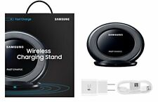 Samsung Qi Certified Fast Wireless Charging Stand W/ AFC Wall Charger - Black