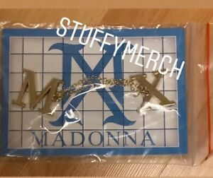 MADONNA OFFICIAL MADAME X 2019 TOUR GOLD CHAIN DOUBLE PIN SET RARE LIMITED EDIT
