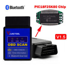 V1.5 ELM327 Bluetooth OBD2 Auto Diagnostic Scanner PIC18F25K80 Chip for Android