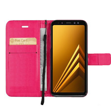 BRAND NEW Pink Wallet Flip Case Leather Magnetic Book Cover for Samsung Galaxy
