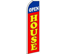 Open House Blue / White / Red / Yellow Swooper Super Feather Advertising Flag