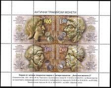 BULGARIA Mint stamps in miniature sheet Thracian coins, Archeology  2016   avdpz