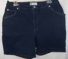 Faded Glory ladies stretch denim shorts sz 18 navy 98% cotton/2% spandex