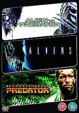 Alien Vs Predator / Aliens / Predator (DVD, 2009, 3-Disc Set)