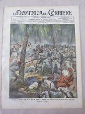 DOMENICA DEL CORRIERE 21 -07-1912 ALPINI A MISURATA - SANTA LUCIA A NAPOLI