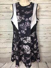 PRABAL GURUNG for Target Women's Dress Size 12 Black & white floral Sleeveless