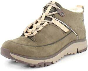 Clarks Tri Fern Goretex Khaki Nubuck Lace Up Casual Ankle Boots Size UK 4.5 D