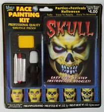 Wolf Novelties Skull Face Painting Makeup Kit Halloween w/ Instruction Booklet