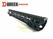 """15"""" Keymod Slanted Slim Free Float Handguard Forward Cut Rail by Breek"""