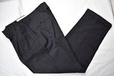 Zanella Jesse Black Striped Undertone Flannel Dress Pleat Trousers Size: 35x32