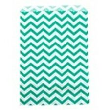 500 Teal Chevron Merchandise Retail Paper Party Favor Gift Bags 4 X 6 Tall
