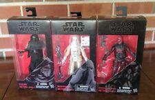 """Star Wars Black Series 6"""" Figures - Snow Trooper 35, Guavian 08, Kylo Ren 03"""
