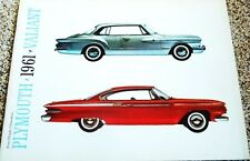 1961 Plymouth Fury Belevedere Savoy Valiant Wagons Deluxe 24-Page Sales Brochure