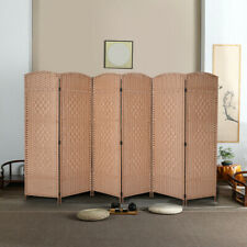 Room Divide 6 Panel Folding Privacy Screens 5.9Ft Brown Home screen