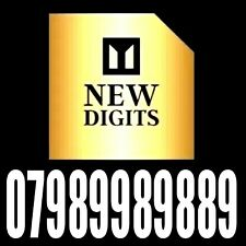 GOLD RARE MEMORABLE EASY TO REMEMBER MOBILE PHONE NUMBER SIM CARD EXCLUSIVE 🇬🇧