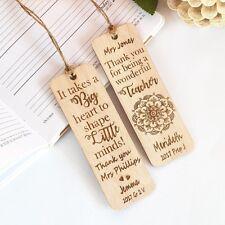Personalised Wooden Teachers Bookmark Teachers Gift