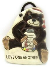Smoky Mountain Pottery SMP Jelly Beans LOVE ONE ANOTHER Bear Pottery Plaque