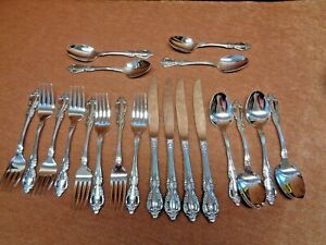 ONEIDA RAPHAEL DELUXE STAINLESS 4 OF THE 5 PIECE PLACE SETTINGS  (Free Shipping)