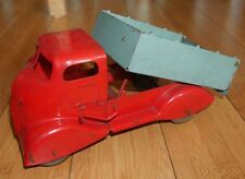 MARX TOYS PRESSED STEEL TOY TIPPER TRUCK C. 1930's RARE VINTAGE LARGE (139)