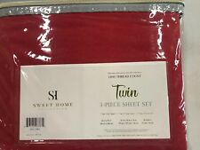 Sweet Home Collection Egyptian Comfort 1800 Thread Count Sheet Set Twin Red
