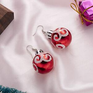 2021 Christmas Snowflake Star Ball Earrings Hook Drop Dangle Women Jewelry XMAS