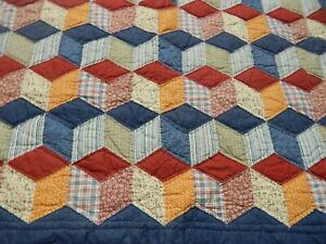 BEAUTIFUL COUNTRY,RUSTIC DESIGN COVERLET, MACHINE AND HAND STITCHED COVERLET, QU
