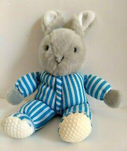 "VTG Eden Good Night Moon 10"" Plush 1996 Rabbit Striped PJs Machine Washable"