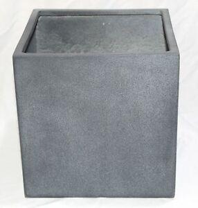 "CUBE TROUGH Raised garden Planter Plant Flower Herb Pot Box Bed 9.5"" Fiberglass"