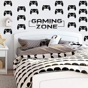40pc+ SET Gamer Xbox PS4 Gaming controller kids bedroom Wall Vinyl Sticker V689