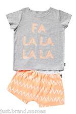 Bonds Girls Children 2 Piece T Shirt PJ Sleepwear Set 3 4 5 6 7 Grey Orange 8