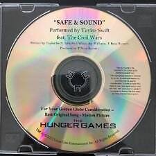 "TAYLOR SWIFT ""Safe & Sound"" HUNGER GAMES Movie CD FYC Best Original Song (Promo)"