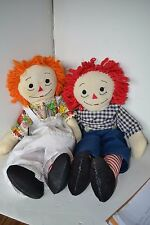 Raggedy Ann & Andy Stuffed Doll Lot of 2  LOT17 Handmade