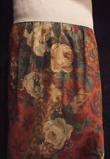 Sheridan Australia Ruffle Bed Skirt Rust Gold Rose Floral Country Garden Rustic