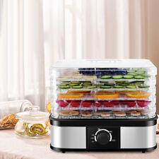 Dörrgerät Dörrautomat mit Temperaturregler 5 Einlegefächer Obst-&Gemüsetrockner