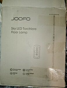 Lavish Home Collection with JOOFO Floor Lamp Modern Torchiere 3 Color Led lights