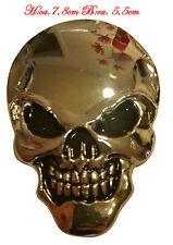 ☼ METALL Totenkopf Schädel 3D Aufkleber Silber Skull Auto PKW Sticker Emblem
