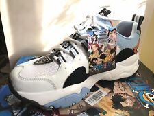 2019 Skechers x One Piece D LItes 3 Shoes Sneakers - White/Light Blue(Jinbei)