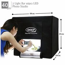 40CM PROFESSIONAL PHOTO STUDIO KIT LED LIGHT BOX CUBE TENT PORTABLE PHOTOGRAPHY