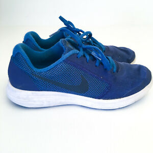 Nike Revolution 3 Blue Running Shoes Sneakers US 7Y Boys Youth Trainers [KS]