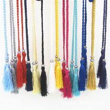 Women's Elegant Braided Belt Tassel Self-Tie Thin Waist Rope Belt Gift