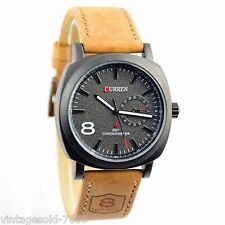 2017 New Fashion Curren Brand Leather Strap Wrist Watch For Men In BOX PACKING