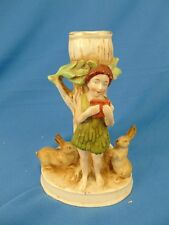 Candle stick holder Pan from A Midsummer's Night Dream art Rabbit ceramic music