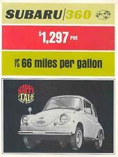 1969 Subaru 360 Microcar Brochure mw5665-K7TVG3