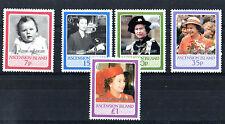 ISOLA di ascensione 1987 QUEEN 40th anniversario di matrimonio serie di francobolli Gomma integra, non linguellato